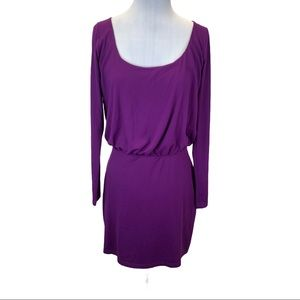 Susana Monaco long sleeve dress purple - small